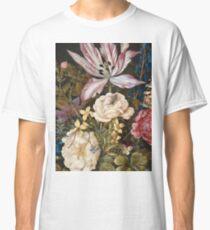 Vintage famous art - Balthasar Van Der Ast  - Still-Life With Flowers Classic T-Shirt