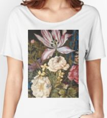 Vintage famous art - Balthasar Van Der Ast  - Still-Life With Flowers Women's Relaxed Fit T-Shirt