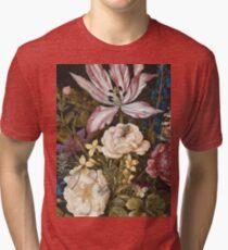 Vintage famous art - Balthasar Van Der Ast  - Still-Life With Flowers Tri-blend T-Shirt