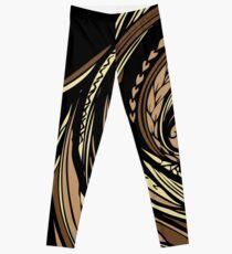 Tapa Hair - Brown/Gold Leggings