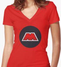 M-Tron Logo Women's Fitted V-Neck T-Shirt