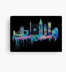 Inky London Skyline Canvas Print