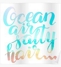 Surf lettering on a  defocus blurred summer background Poster