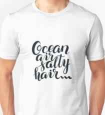 Surf lettering Ocean air salty hair T-Shirt