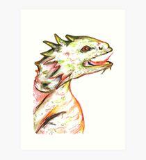 Little Green Dragon Art Print