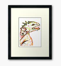 Little Green Dragon Framed Print