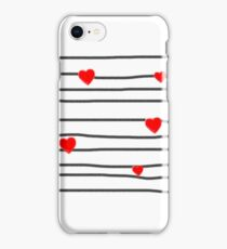 Hearts and stripes iPhone Case/Skin
