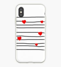 Hearts and stripes iPhone Case