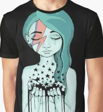 Black Stars Falling (David Bowie tribute) Graphic T-Shirt
