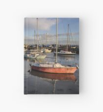Titchfield Haven, England at late afternoon Hardcover Journal