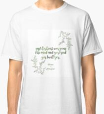 """And yes I said yes I will yes"" James Joyce Print Classic T-Shirt"