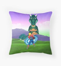 Space Harrier Moot Throw Pillow