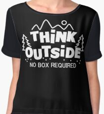 Think Outside, No Box Required Chiffon Top