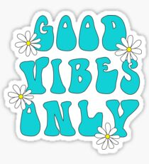 Good Vibes Only Hippy Sticker