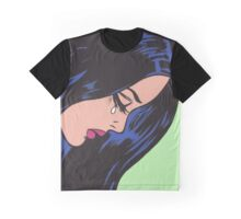 Crying Comic Girl Graphic T-Shirt