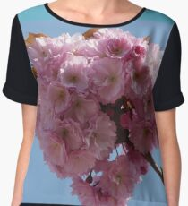 Pink Blossoms Women's Chiffon Top