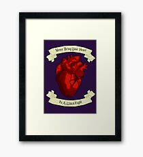 """Never Bring Your Heart To A Witch Fight"" - Regina Mills Framed Print"