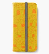 Geometric Art Hardcover Journal in Yellow and Orange iPhone Wallet/Case/Skin