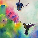 Hummingbirds Dance by Sherry Cummings