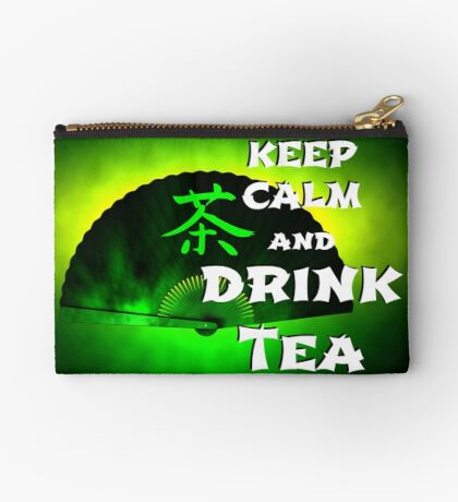 Keep Calm And Drink Tea - green tea Studio Pouch