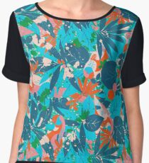 Brazil Hip Hop Pattern by Pepe Psyche Chiffon Top