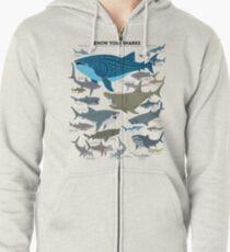 Kenne deine Haie Kapuzenjacke