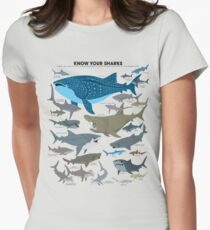 Camiseta entallada Conozca a sus tiburones