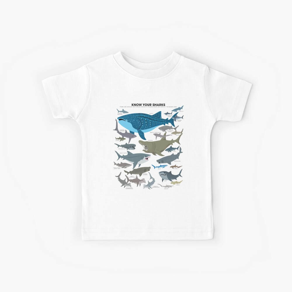 Know Your Sharks Kids T-Shirt