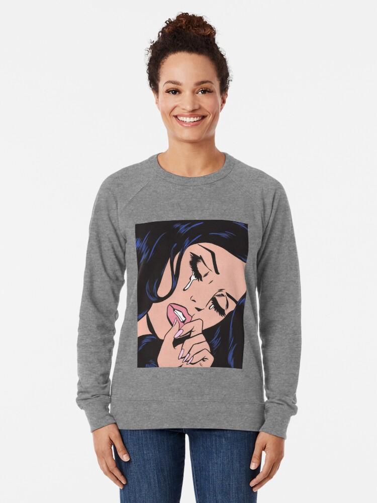 Sweatshirt léger ''Cheveux noirs pleurer Comic Girl': autre vue