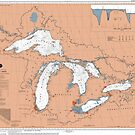 Great Lakes Map by parmarmedia