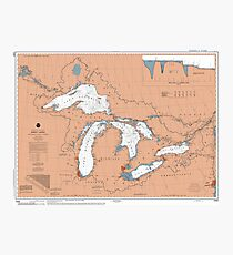 Great Lakes Map Photographic Print
