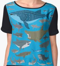 Know Your Sharks Chiffon Top