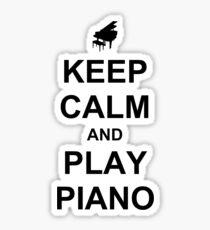 Play Piano (Black) Sticker
