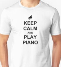 Play Piano (Black) T-Shirt