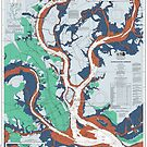 Charleston South Carolina Harbor Map by parmarmedia