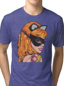 Ginger Tattooed Kitty Girl Tri-blend T-Shirt