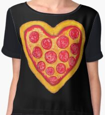 Pizza Heart Chiffon Top