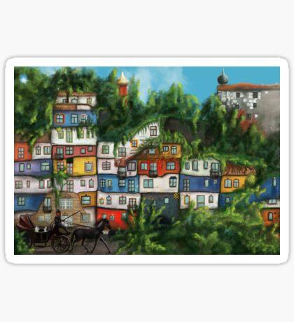 Hundertwasserhaus Sticker