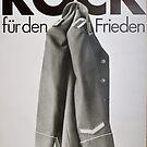 Rock fuer den Frieden, DDR Plakat, East German Propaganda poster by Remo Kurka