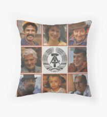DDR 40, 40 years East Germany, Propaganda Poster 1989 Throw Pillow