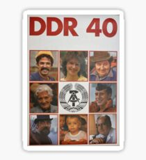 DDR 40, 40 years East Germany, Propaganda Poster 1989 Sticker