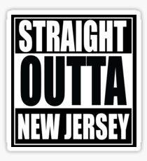 Straight Outta New Jersey Sticker