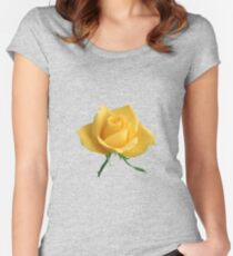 Beautiful yellow rose Women's Fitted Scoop T-Shirt