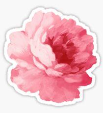 Pegatina Flor peonía rosa