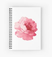 Flower pink peony Spiral Notebook