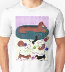 Knitting Dachshund Unisex T-Shirt