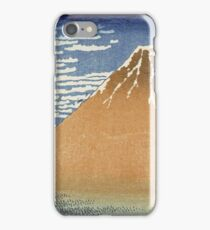 Vintage famous art - Hokusai Katsushika - Fine Wind, Clear Morning. (The Red Fuji) iPhone Case/Skin