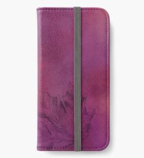 Autumn Maple Leaf in Violet iPhone Wallet