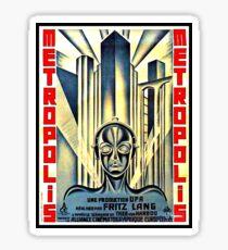 Fritz Lang METROPOLIS poster Sticker