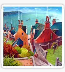 Sea houses. Gardenstown. Sticker